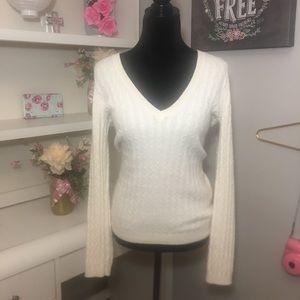 BANANA REPUBLIC Cable Knit Angora Blend Sweater M